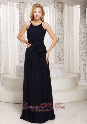 Sheath Black Sash Custom Made Mother Of Brides Dress