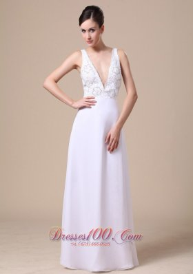 Formal Elegant Empire Beading Chiffon Prom Evening Dress