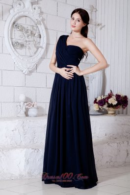 Formal Empire One Shoulder Brush Train Prom Evening Dress