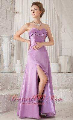 2013 Lavender Column Sweetheart Bridesmaid Evening Dress