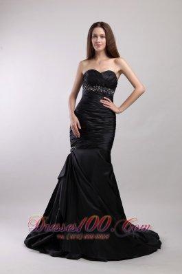 Mermaid Beading Sweetheart Court Train Prom / Evening Dress