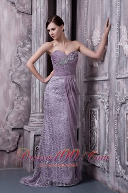 Lavender Special Fabric Sweetheart Evening Dress 2013