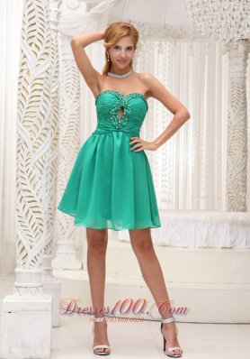 Sea Green 2013 Prom Party Dress Beaded Keyhole Open