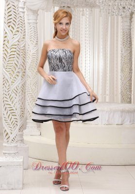 Grey Prom / Homecoming Dress 2013 Tiered Zebra