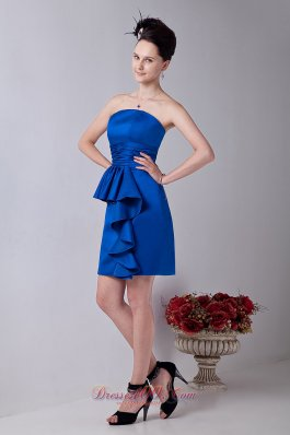 Strapless Mini-length Ruched Prom Dress for Party