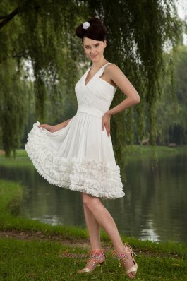 Ruch Mini-length White Prom Homecoming Dress for Cheap