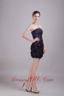 Column Sheath Strapless Mini-length Prom Nightclub Dress