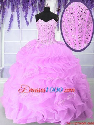 Three Piece Eggplant Purple Sweet 16 Quinceanera Dress Military Ball and Sweet 16 and Quinceanera and For with Beading and Sequins Sweetheart Sleeveless Lace Up