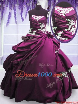 Hot Pink Long Sleeves Appliques and Pick Ups Asymmetrical Quinceanera Dress