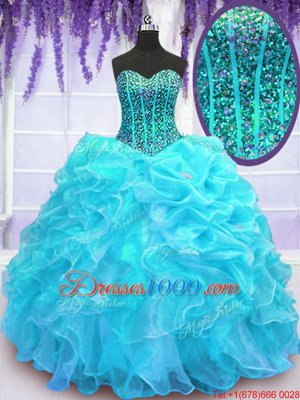 Four Piece Scoop Floor Length Ball Gowns Sleeveless Dark Green Sweet 16 Dress Lace Up