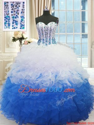 Floor Length Ball Gowns Sleeveless Quinceanera Dresses Lace Up
