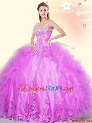 Customized Asymmetrical Lilac 15 Quinceanera Dress Sweetheart Sleeveless Lace Up