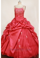 Red Pick-up straps Little Girl Pageant Dresses