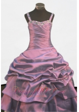 Beading Pick-ups Straps Pageant Ball Gowns for Teenagers