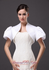 White Jacket Short Sleeves for formal Occasion