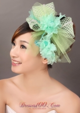 Colorful Tulle Wedding Headpieces With Beads