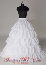 Taffeta Five Layers Wedding Petticoat Long