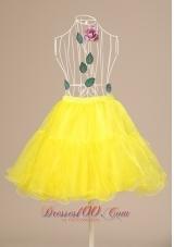 Yellow Hot Selling Petticoat Mini-length Tiers
