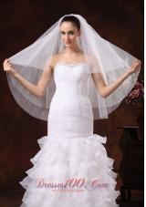 Stylish Fingertip Wedding Veil Three-tier Tulle