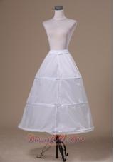 White Organza Wedding Petticoat Floor-length