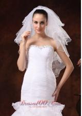Elbow Four-tier Wedding Veil with Pencil Edge