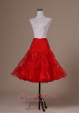 Affordable Red Organza Mini-length Petticoat for Prom