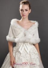 Modest Wraps / Shawls for Prom / Cocktail Faux Fur V-neck