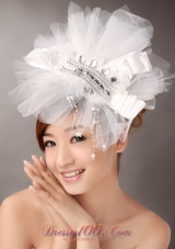 Beautiful Tulle Imitation Pearls for Outdoor Headpieces