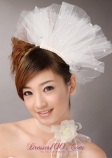 Tulle Hair Combs Imitation Pearls Wedding Special Occasion