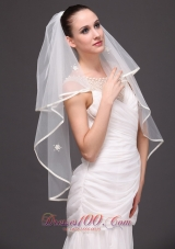Two-tier Ribbon Edge Tulle Graceful Wedding Veil