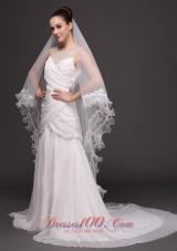 Drop Two-tier Organza Wedding Veil On Sale