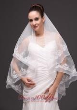 Two-tier Oval Bridal Wedding Veil White Fashion