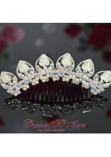 Customize Beaded and Rhinestones Ladies' Tiara