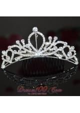2013 Stunning Rhinestone Bridal Tiara Rhinestone