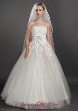 Two Layers Ribbon Edge Tulle Bridal Wedding Veils