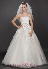 Scalloped Edge Three-tier Bridal Veils For Wedding