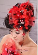 Little Hat Women Fascinators Feather Tulle Beading