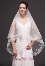 Oval Shaped Bridal Veils For Wedding Two-tier