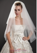 Stunning Two-tier Waterfall Bridal Veils Tulle