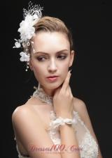 Imitation Pearls and Flowers Net Women Fascinators
