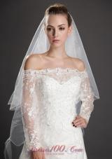 Angel cut 2 Layer Bridal Veils for Wedding Organza