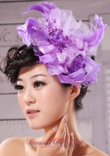 Purple Feather Women 's Fascinators Taffeta Tulle