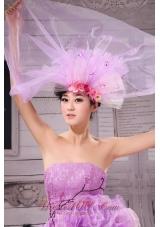 2013 Laveder Headpiece Net Hand Made Flower