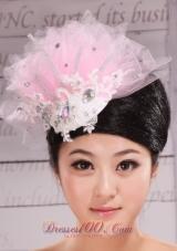 Baby Pink Headpiece Beaded 2013 rhinestones