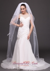 Three-tiered Tulle Bowknots Bridal Veil Wedding