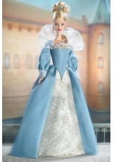 Amazing Blue Dress Barbie Doll Dress With Long Sleeves
