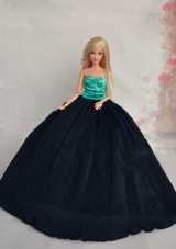 Sweetheart Black and green Wedding Dress for Noble Barbie