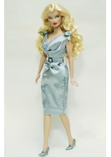Barbie Doll Dress with Belt Light Blue Quinceanera