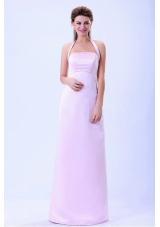 Halter 2013 Baby Pink Bridemaid Dress Column