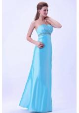 Aqua Blue Crystal Prom Dress Customize Beading